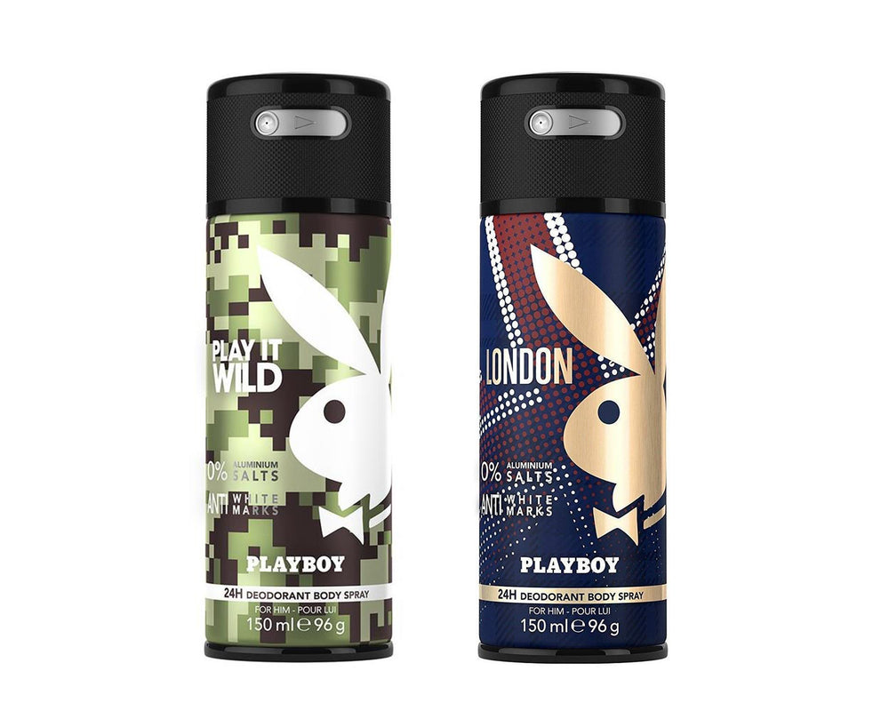 Playboy Wild + London Deo New Combo Set - Pack of 2 Mens