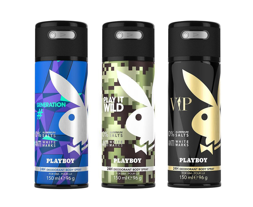 Playboy Generation + Wild + VIP Deo New Combo Set - Pack of 3 Mens