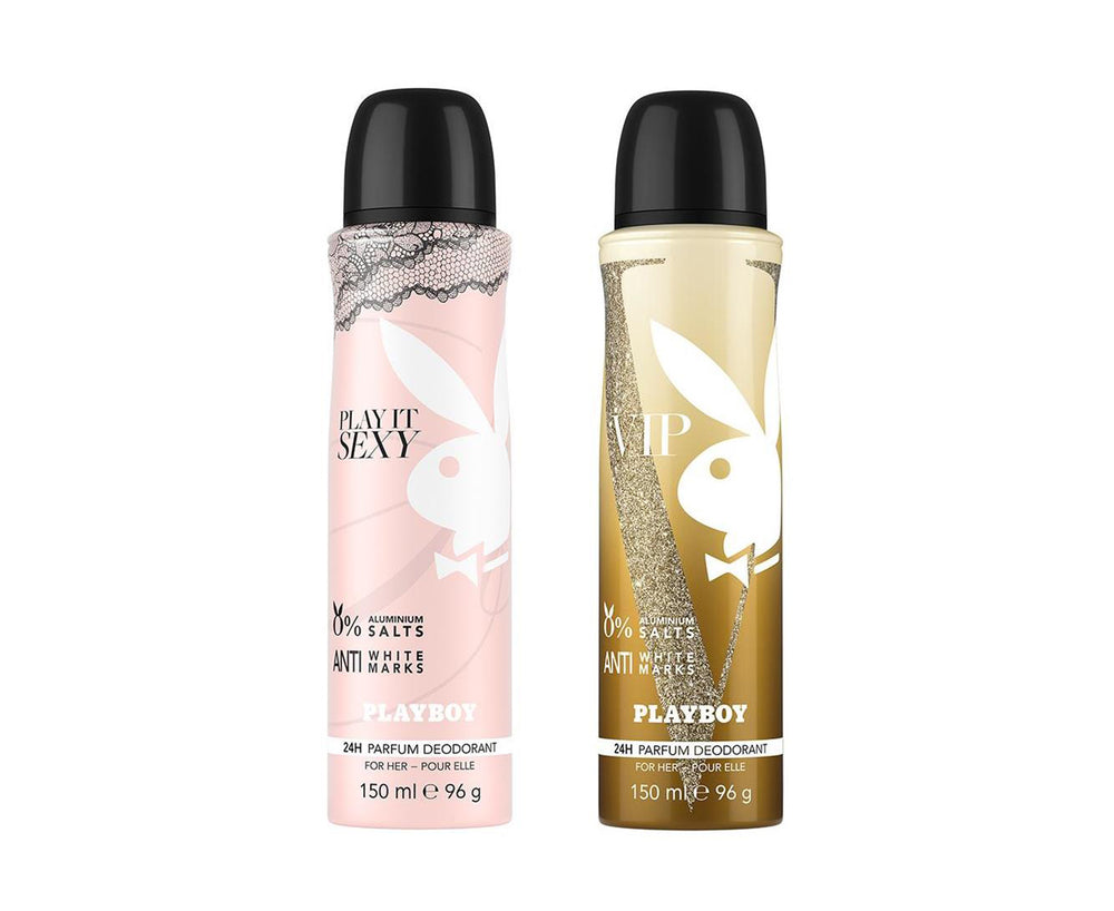 Playboy Sexy + VIP Deo New Combo Set - Pack of 2 Mens