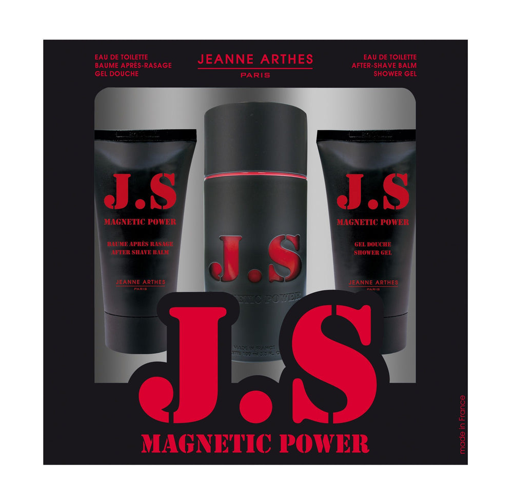 Jeanne Arthes JS Magnetic Power Gift Set(Eau de Toilette 100ml + Shower Gel 75ml + After Shave Balm 75ml)