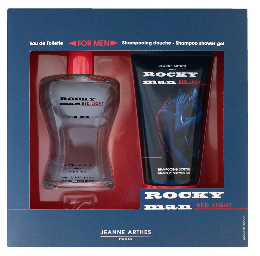 Jeanne Arthes Rocky Red Light Gift Set(Eau de Toilette 100 + Shampoo 150ml)
