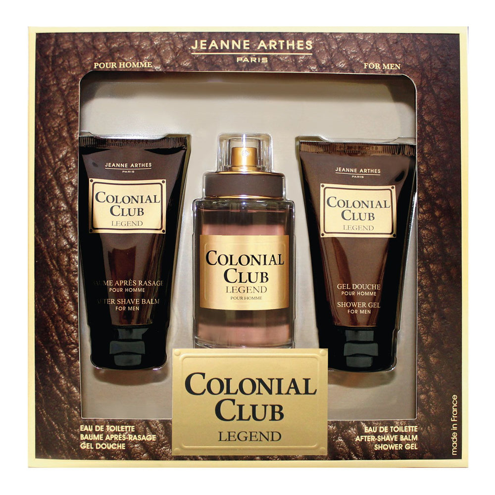 Jeanne Arthes Colonial Club Legend Gift Set (Eau de Toilette 100ml + After Shave Balm 75ml + Shower Gel 75ml)