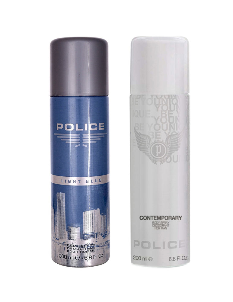 Police Light Blue + Contemporary Deo Combo Set - Pack of 2