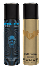 Police To be + Millionaire Deo Combo Set - Pack of 2