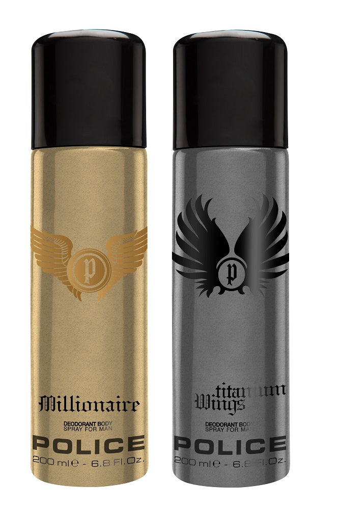 Police Millionaire + Wingstitanium Deo Combo Set - Pack of 2