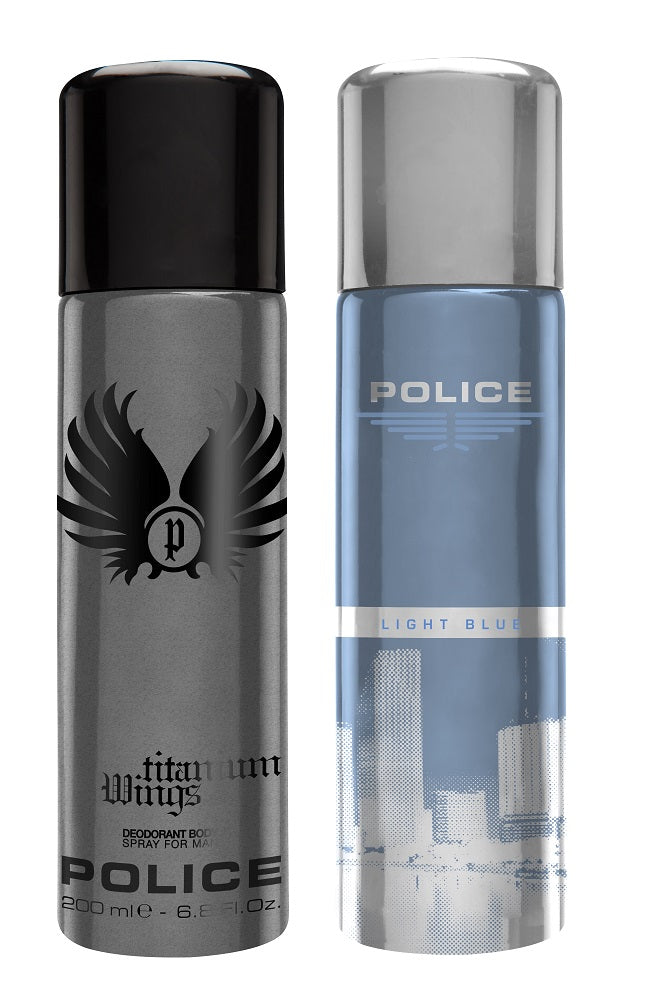 Police Wings titanium + Lightblue Deo Combo Set - Pack of 2, 10% Off