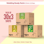 Wedding Ready Pack - 90 shots | 45 Days | Amla + Aloe Vera + Green Tea Apple Cider Vinegar