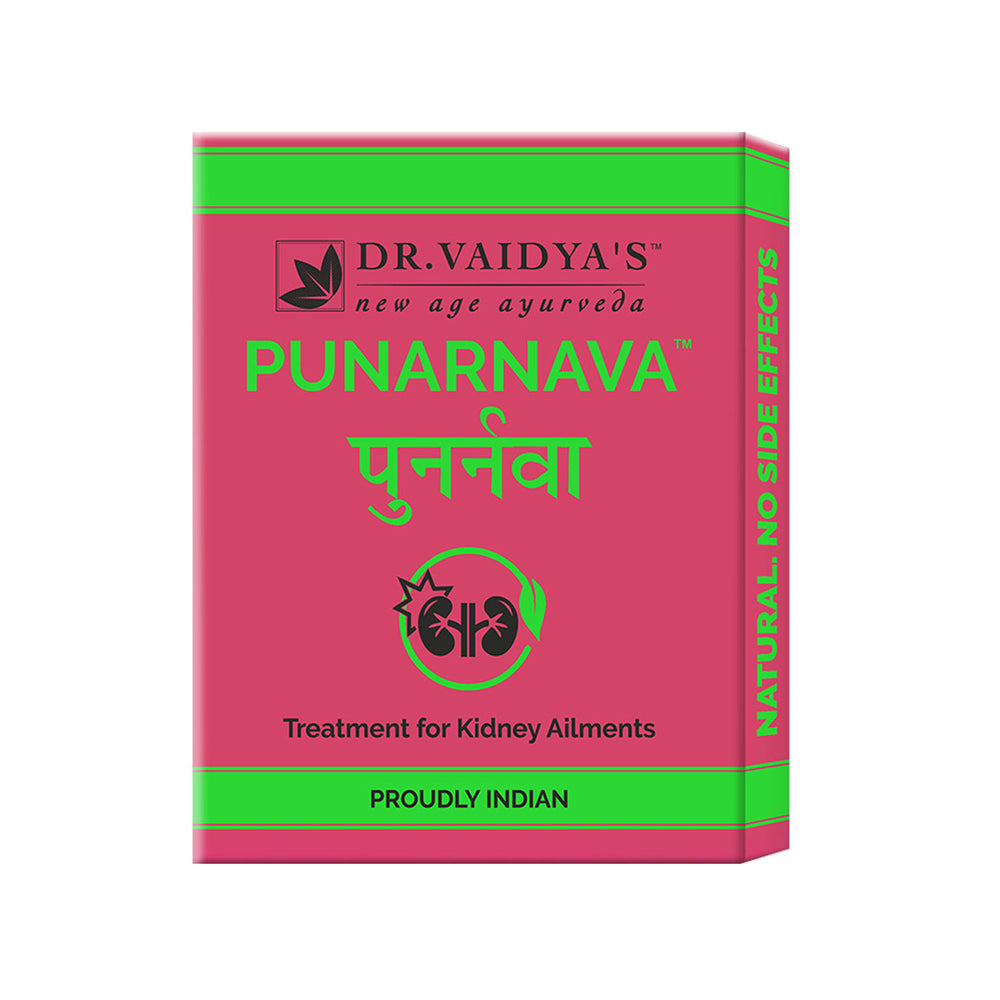 Dr. Vaidya's Punarnava Pills- Ayurvedic Treatment for Kidney Stones & Other Kidney Problems - Pack of 3