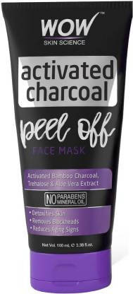 WOW Skin Science Activated Charcoal Face Mask - Peel Off - No Parabens & Mineral Oils (100mL)