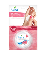Kara Nail Polish Remover Wipes - Rose (30 wipes) (Pack of 2)