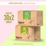 Skin and Hair Health Pack - 60 shots | 30 days | Amla + Aloe Vera