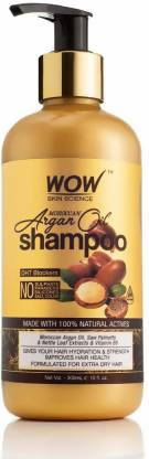 WOW Skin Science Moroccan Argan Oil Shampoo (with DHT Blocker) - 300 mL
