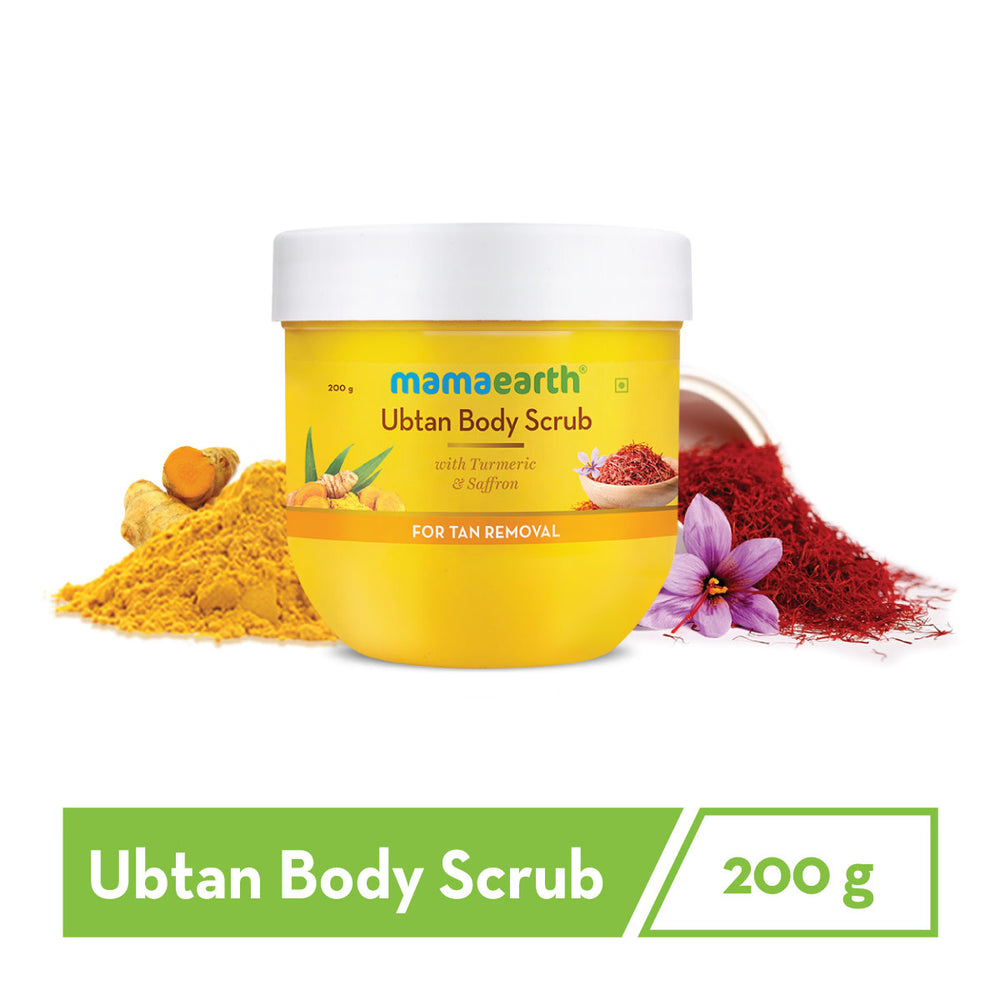 Ubtan Body Scrub with Turmeric & Saffron for Tan Removal – 200 g