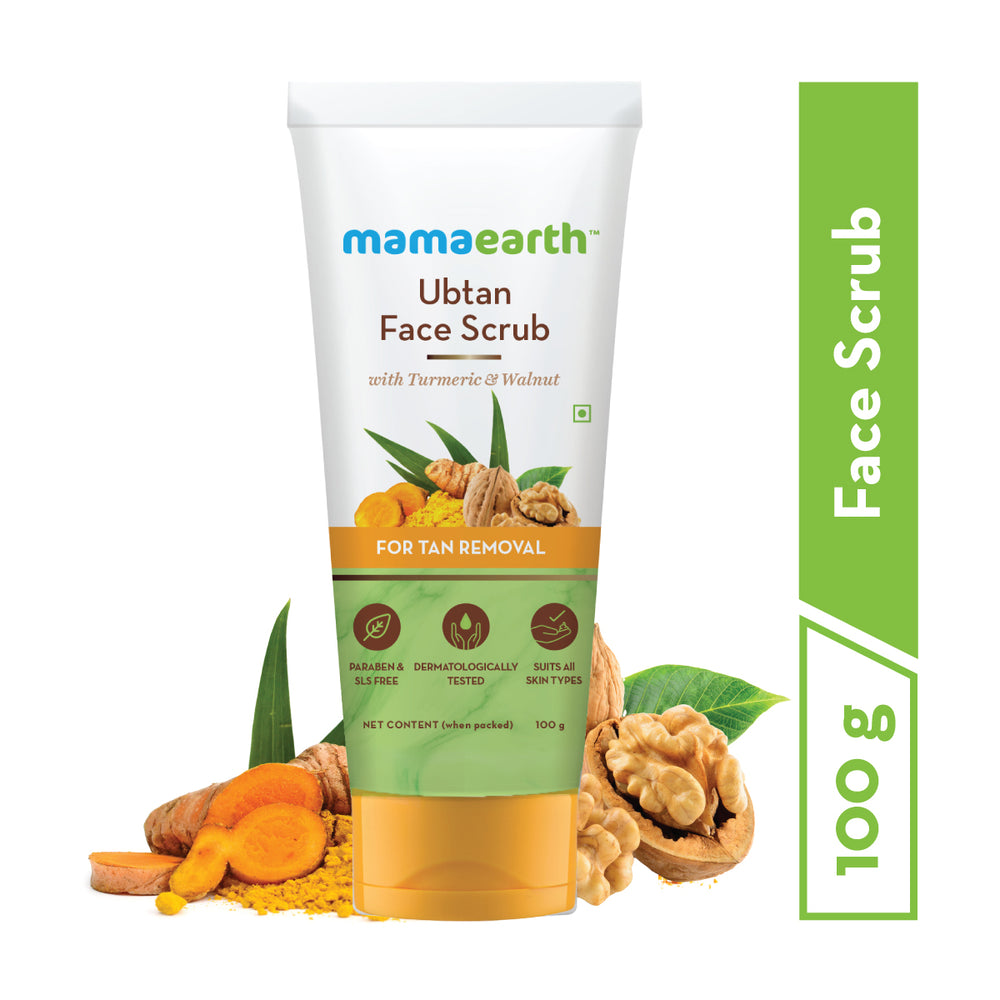 mamaearth ultimate ubtan de-tan kit(ubtan facewash,facemask & face scrub)