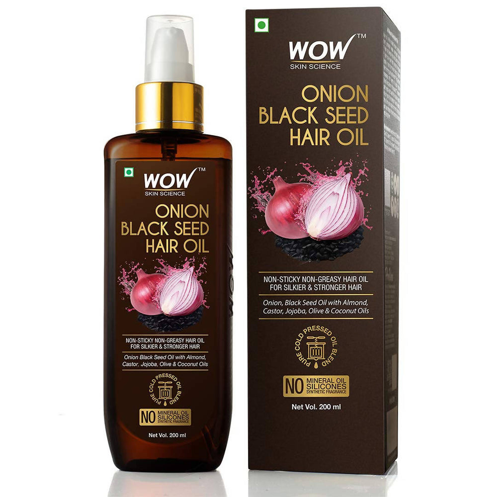 WOW Skin Science Onion Black Seed Hair Oil-200 mL
