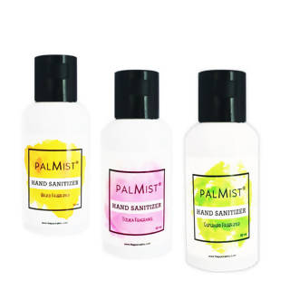 Palmist Multi-Fragrance Hand Sanitizer 50ml (Pack of 3) Gel