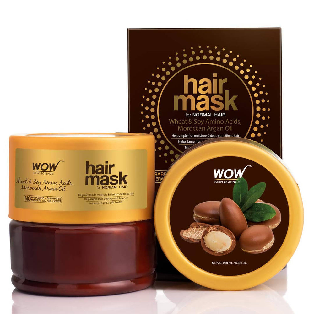 WOW Hair Mask For Normal Hair - No Parabens, Sulphates, Mineral Oil and Silicones, 200 ml
