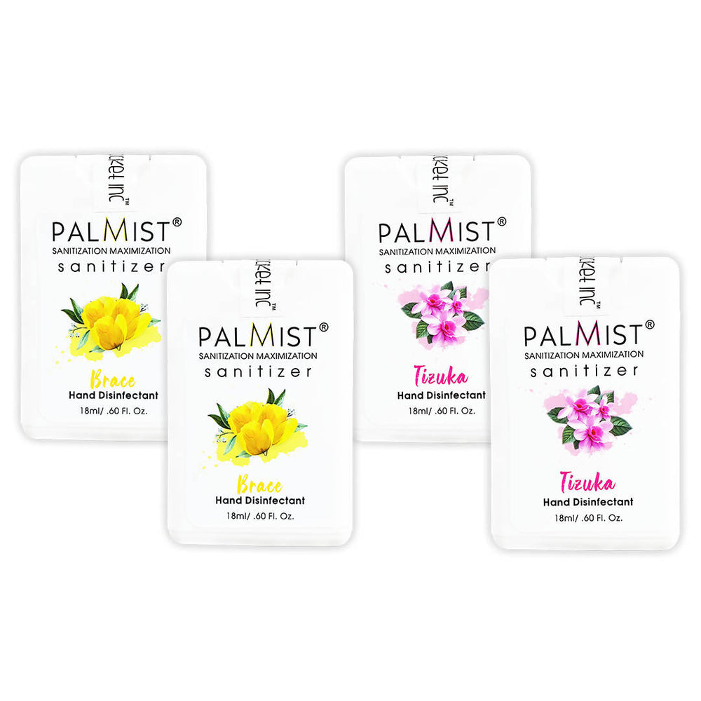 Palmist Multi-Fragrance Hand Sanitizer 18ml (Pack of 4) Spray