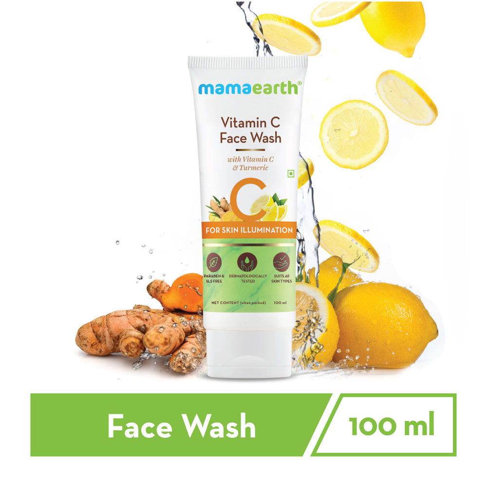 Vitamin C Face Wash with Vitamin C and Turmeric for Skin Illumination - 100ml