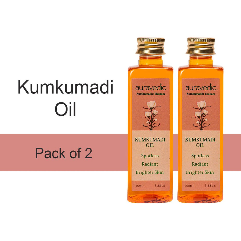 Kumkumadi Oil (Pack Of 2)  -Pure Saffron For Ultra Skin brightening & radiance