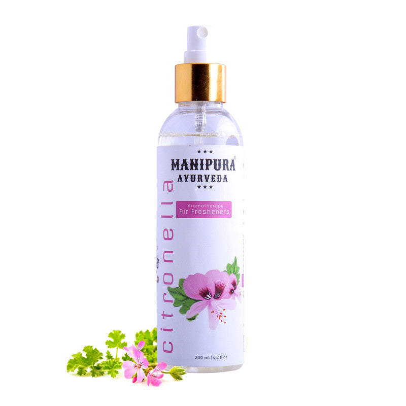 Manipura Ayurveda 200 ml. Citronella Organic  Air Freshener Room Spray for Home Fragrance