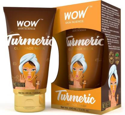 WOW Skin Science Turmeric Clay Face Mask - TUBE - 100 mL