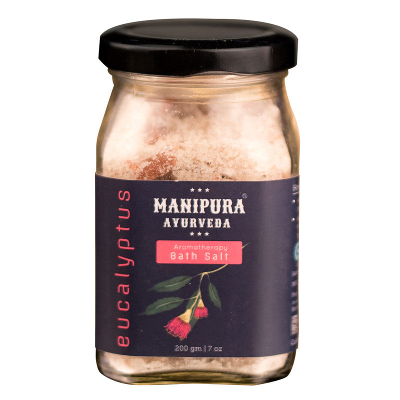 MANIPURA AYURVEDA Eucalytus Bath Salt with Epsom salt and Essential oils