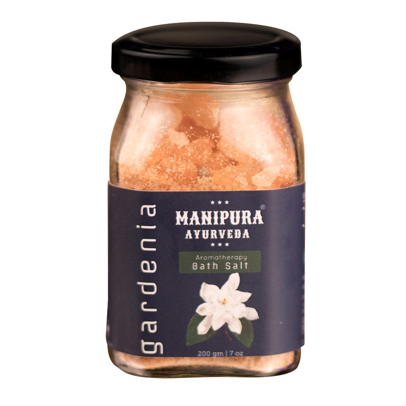 MANIPURA AYURVEDA Gardenia Bath Salt with Epsom salt and Essential oils