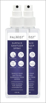 Palmist Surface Sanitizer 100 ml. (Combo of 2)
