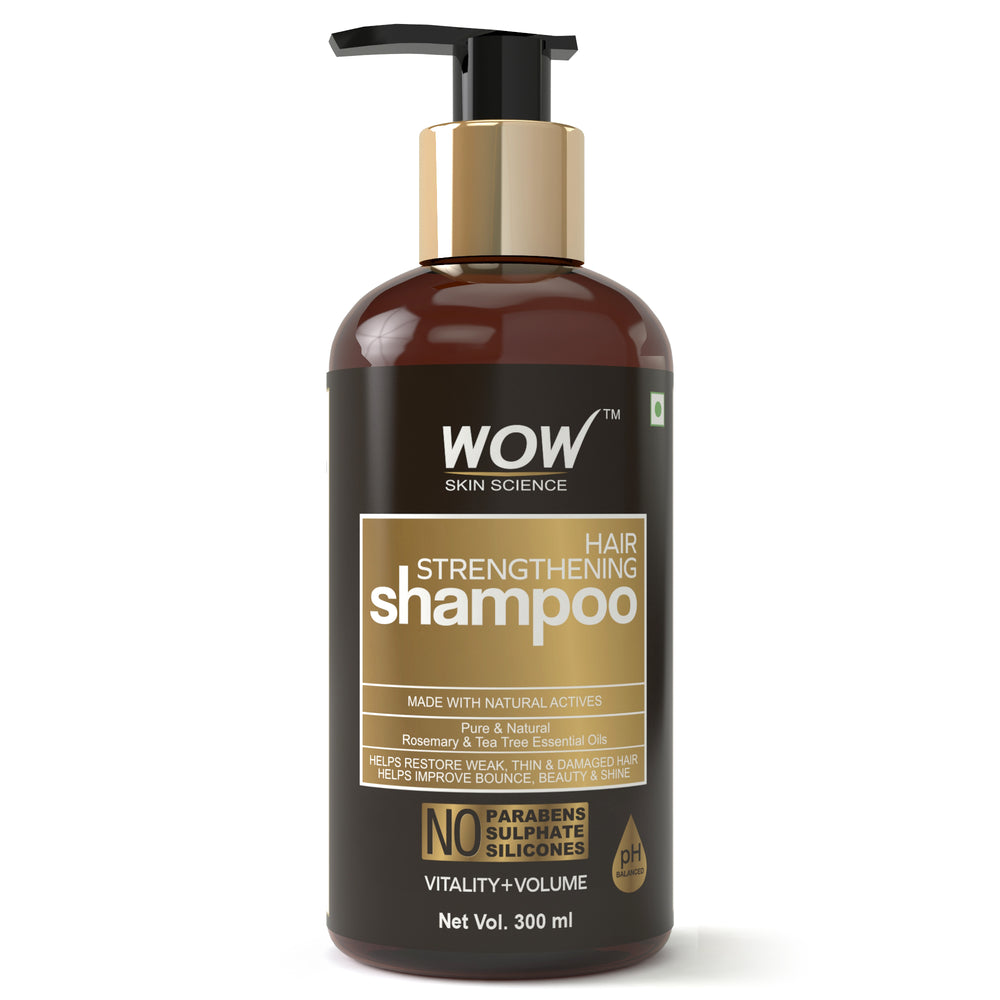 WOW Skin Science Hair Strengthening No Parabens & Sulphate Shampoo, 300mL