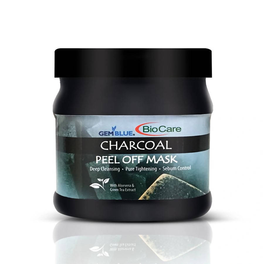 Charcoal Facial Peel-off Mask-Gem Blue-BioCare