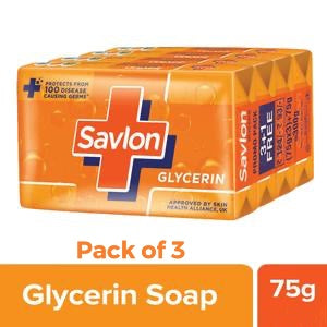 Savlon - Glycerin Soaps (Pack of 3) - Bundle of 2 - (6 Soaps)