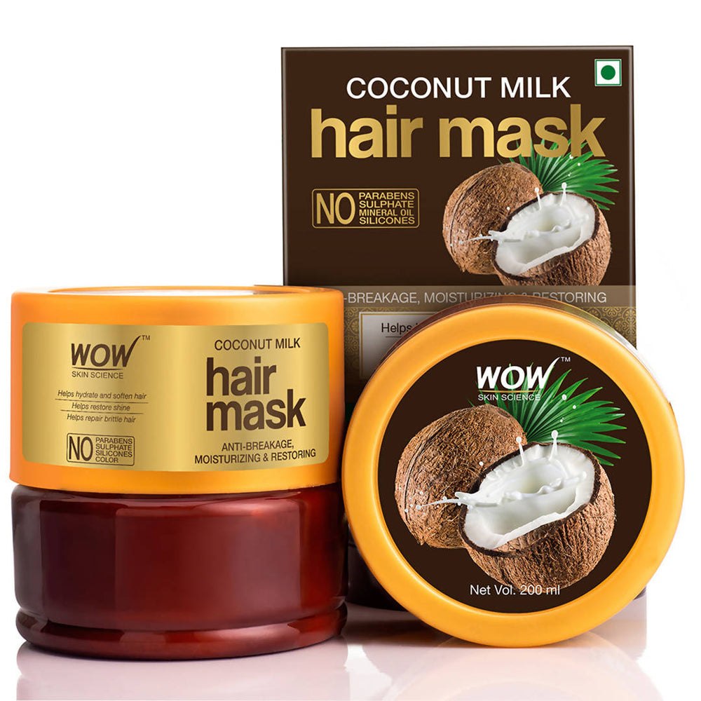 WOW Skin Science Coconut Milk Hair Mask - 200mL