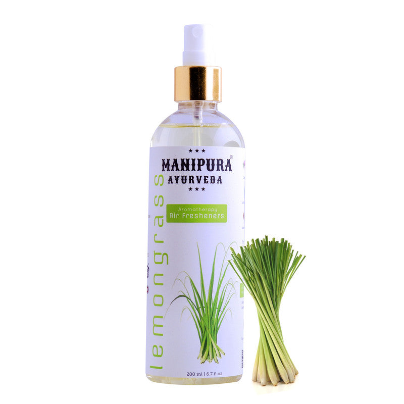 Manipura Ayurveda 200 ml. Lemongrass Organic  Air Freshener Room Spray for Home Fragrance