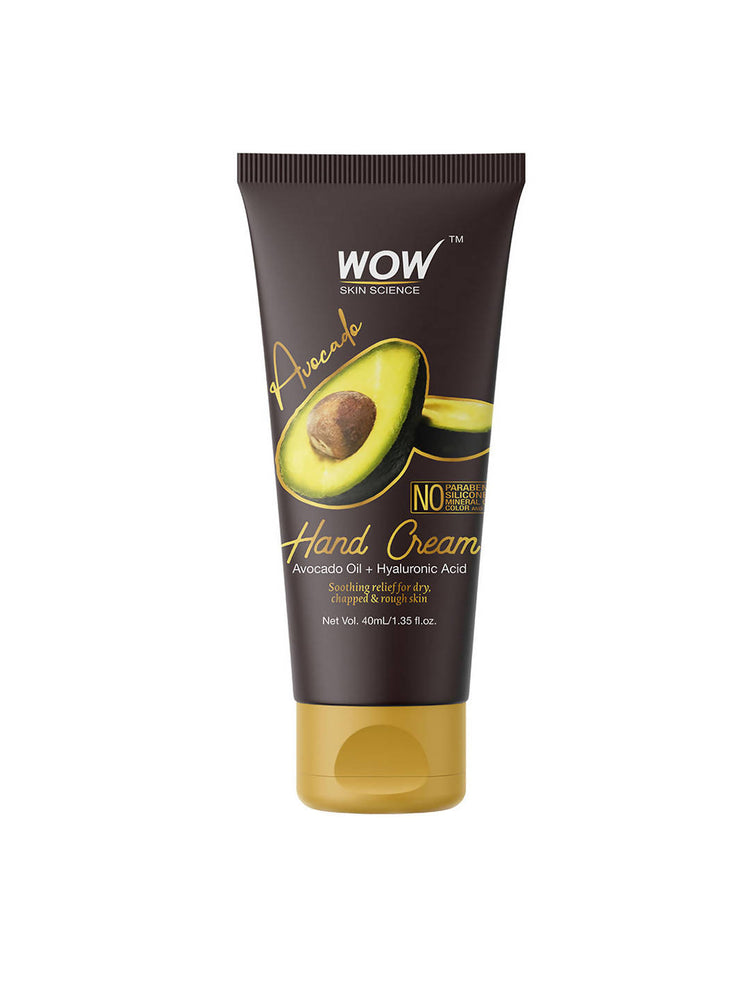 WOW Skin Science Avocado Hand Cream - No Parabens, Silicones, Mineral Oil, Color & PG (40 mL)