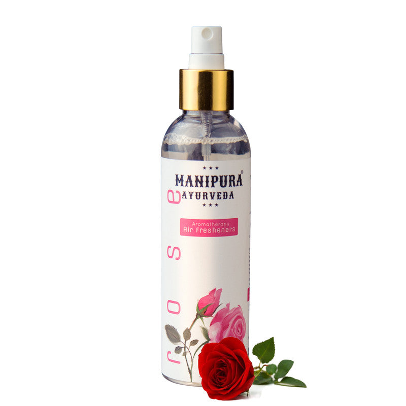 Manipura Ayurveda 200 ml. Rose Organic  Air Freshener Room Spray for Home Fragrance