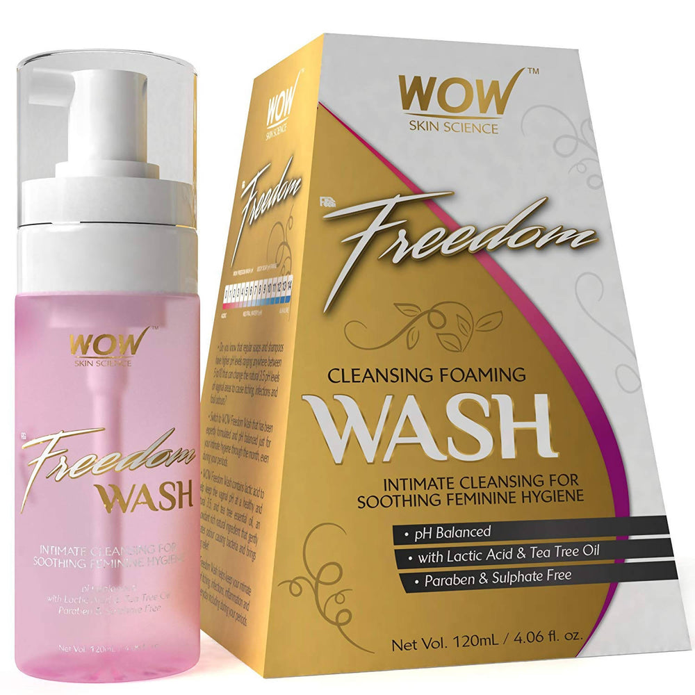 WOW Skin Science Freedom Cleansing Foam Wash - 120 ml