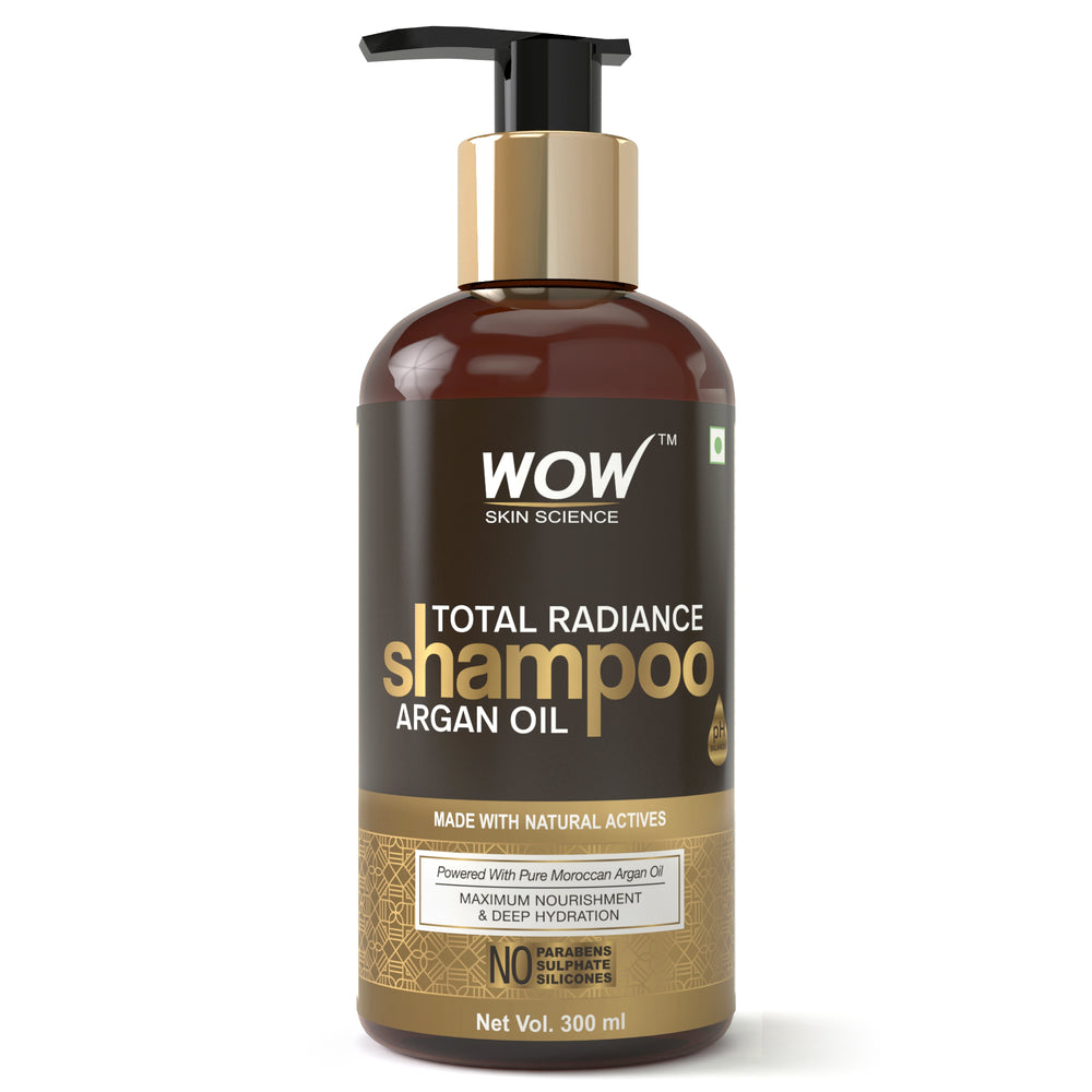 WOW Skin Science Total Radiance No Parabens, Sulphate & Silicone Shampoo, 300mL