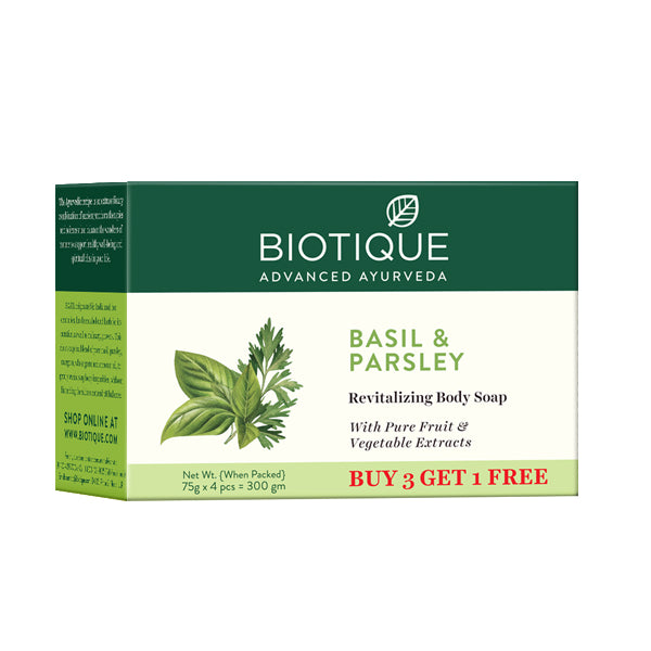 BASIL & PARSLEY BODY CLEANSER 3x75g(body cleanser) (Pack of 2)
