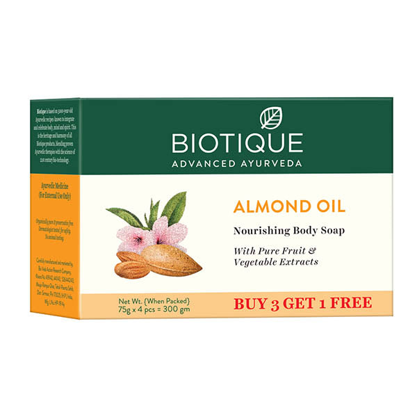 ALMOND OIL BODY CLEANSER 3x75g(body cleanser) (Pack of 2)