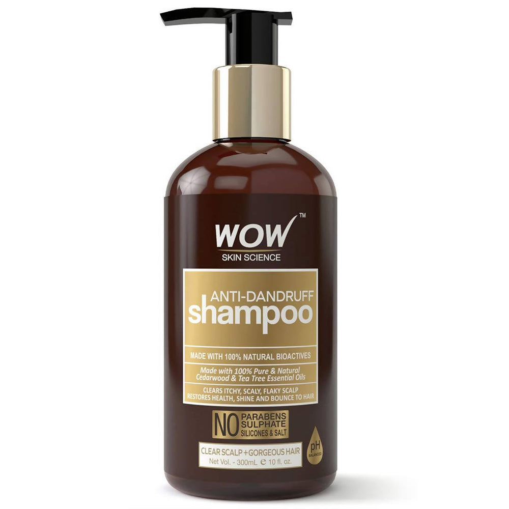 WOW Skin Science Anti Dandruff No Parabens & Sulphate Shampoo, 300mL