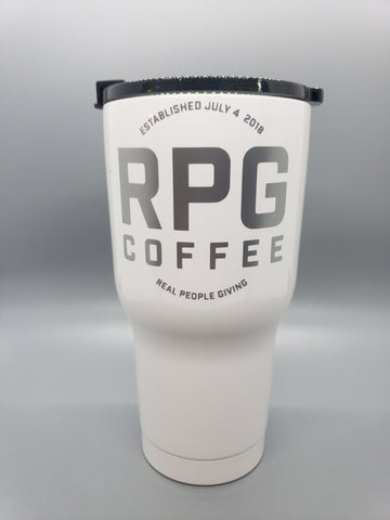 RPG Coffee 20 oz Tumbler RPG Coffee, LLC White