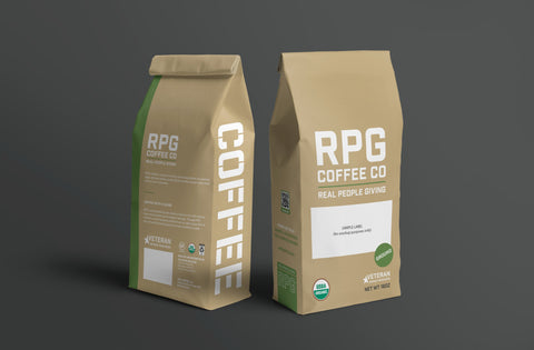RPG Warrior Blend Whole bean Coffee 1 Pound RPG Coffee, LLC