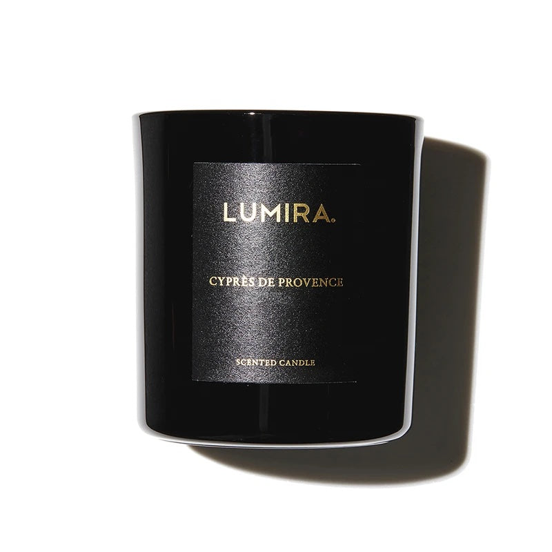 lumira glass candle cypres de provence