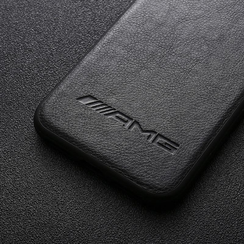 Luxury AMG Leather iPhone Case