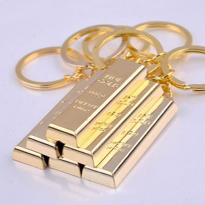Luxury Gold Bar Key Chain