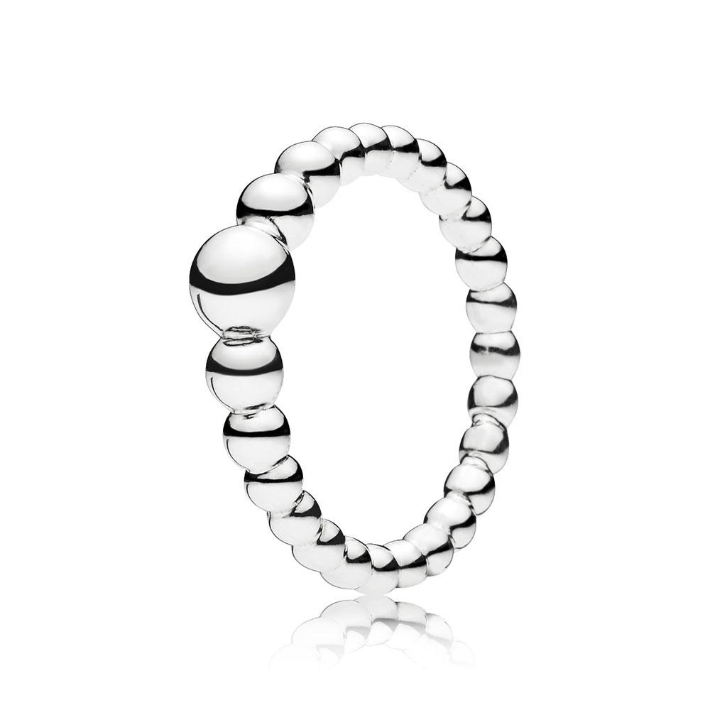 NEW 925 String of Beads Rose Ring Turkish Wholesale Handmade 925 Sterling Silver Jewelry - Turkishsilverjewelry
