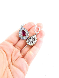Victorian Turkish Wholesale Handmade 925 Sterling Silver Jewelry Earrings hurrem Sultan BN Gift 2116 - Turkishsilverjewelry