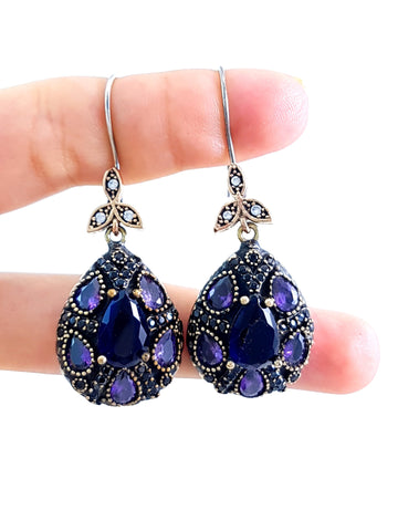 Turkish Wholesale Handmade 925 Sterling Silver Jewelry Earrings hurrem Sultan BN Gift 2115 - Turkishsilverjewelry