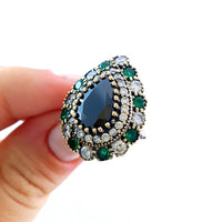 LADIES Antique Fashion Victorian Rings Size 7 Turkish Wholesale Handmade 925 Sterling Silver Jewelry R2112 - Turkishsilverjewelry